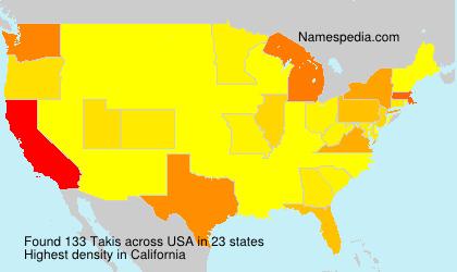 Familiennamen Takis - USA