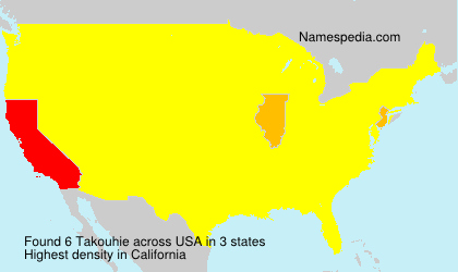 Surname Takouhie in USA