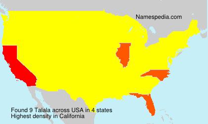 Familiennamen Talala - USA