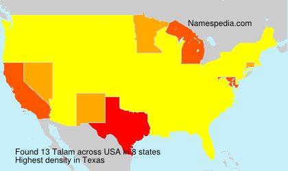 Surname Talam in USA