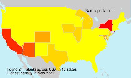 Surname Talanki in USA