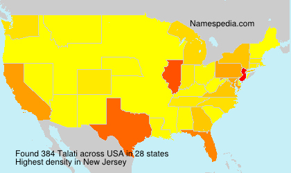 Surname Talati in USA