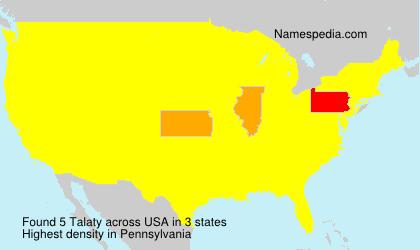 Familiennamen Talaty - USA