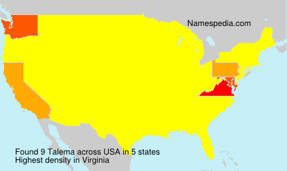 Surname Talema in USA