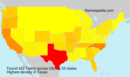 Surname Talent in USA