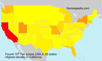 Surname Tali in USA