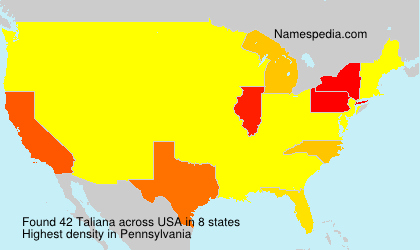 Surname Taliana in USA