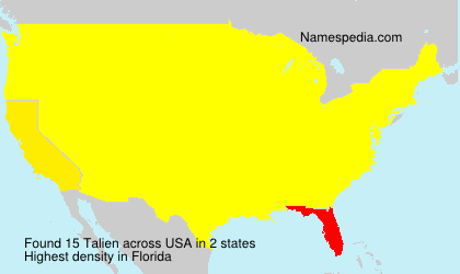 Surname Talien in USA