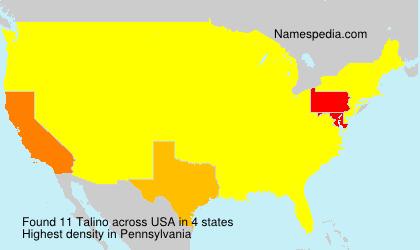 Familiennamen Talino - USA