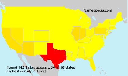 Surname Tallas in USA