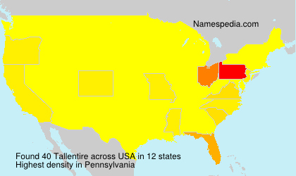 Surname Tallentire in USA