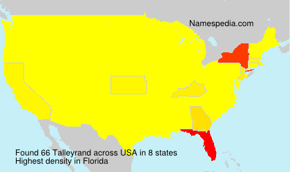 Surname Talleyrand in USA