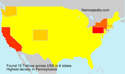 Surname Talmas in USA