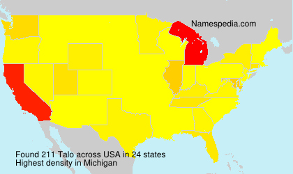 Surname Talo in USA