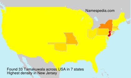 Surname Tamakuwala in USA