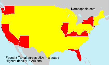 Familiennamen Tamal - USA