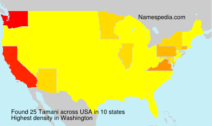 Surname Tamani in USA