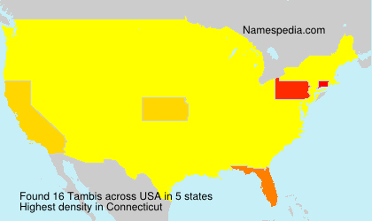 Surname Tambis in USA