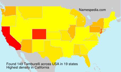Surname Tamburelli in USA
