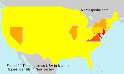 Surname Tampe in USA