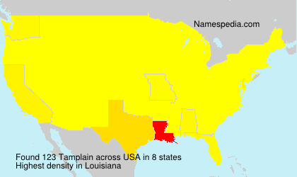 Surname Tamplain in USA