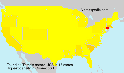 Surname Tamsin in USA