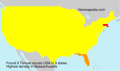 Surname Tamule in USA