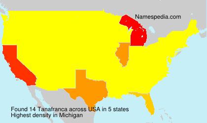 Surname Tanafranca in USA