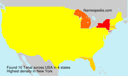 Surname Tanal in USA