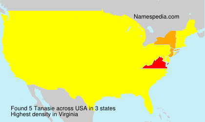 Surname Tanasie in USA