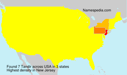 Surname Tandir in USA