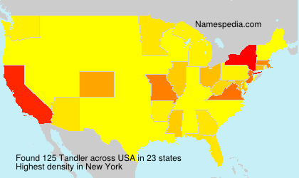 Surname Tandler in USA