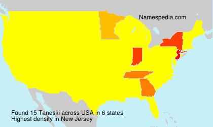 Surname Taneski in USA