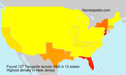 Surname Tangarife in USA