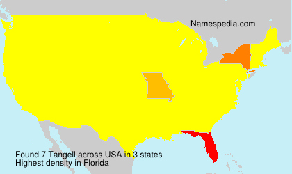 Surname Tangell in USA