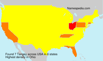 Surname Tangey in USA