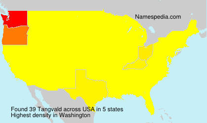 Surname Tangvald in USA