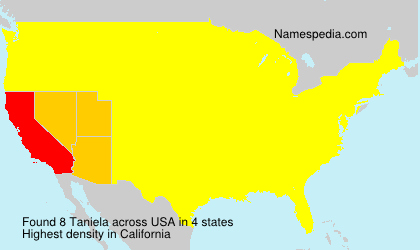Surname Taniela in USA