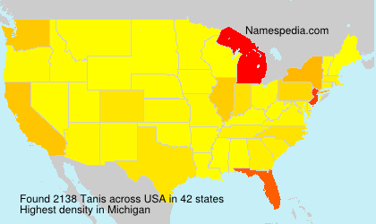 Surname Tanis in USA