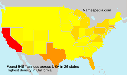 Surname Tannous in USA