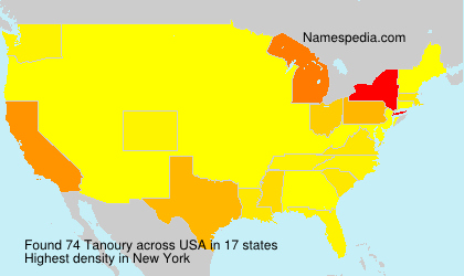 Surname Tanoury in USA
