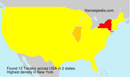 Surname Tanskiy in USA