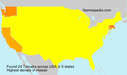 Surname Tanudra in USA