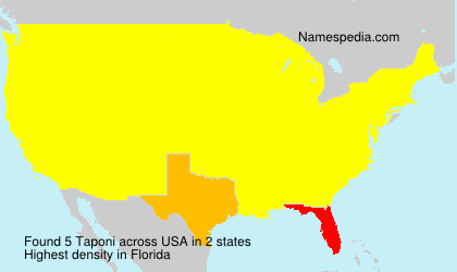 Surname Taponi in USA