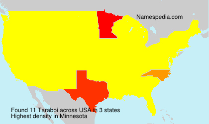 Surname Taraboi in USA
