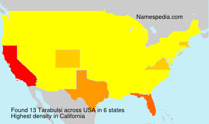 Surname Tarabulsi in USA