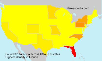 Surname Taracido in USA