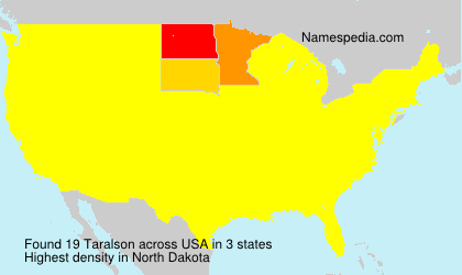 Surname Taralson in USA