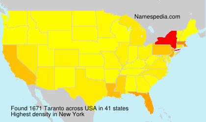 Surname Taranto in USA