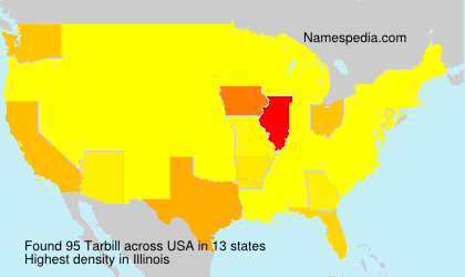 Surname Tarbill in USA